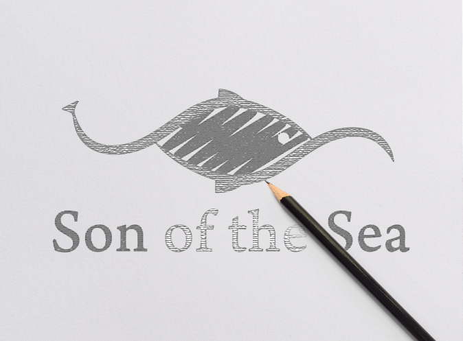 Son of the sea logo sketch