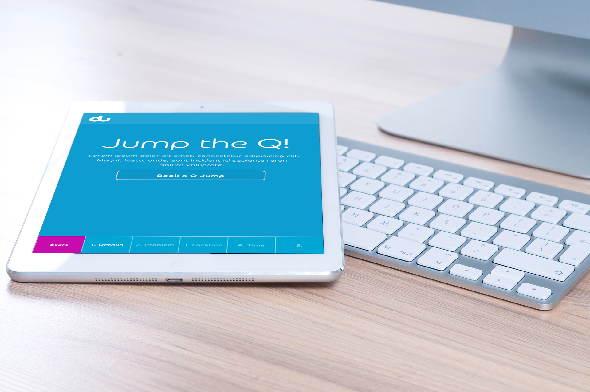 DU QJump in tablet.
